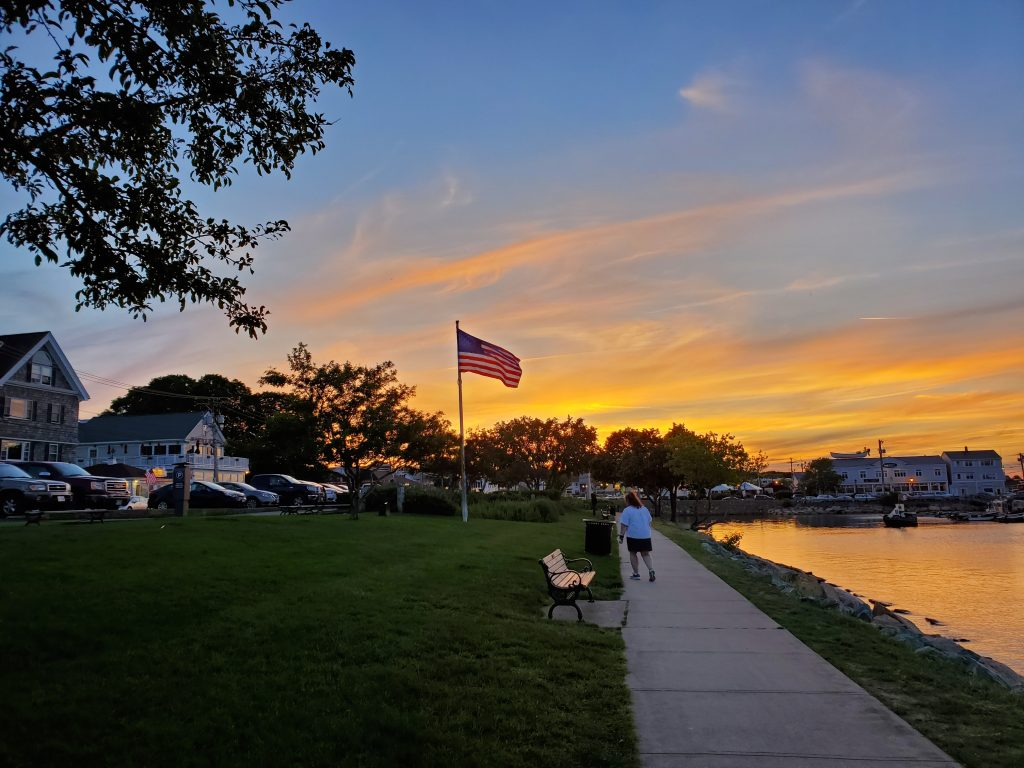 sunset in Plymouth MA